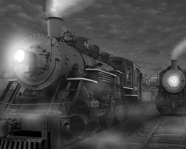 Transportation Poster featuring the photograph The Yard II by Mike McGlothlen