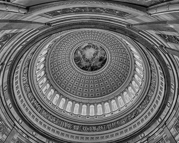 Us Capitol Rotunda Poster featuring the photograph Us Capitol Rotunda by Susan Candelario