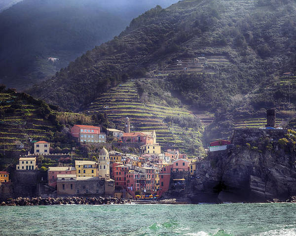 Vernazza Poster featuring the photograph Vernazza by Joana Kruse