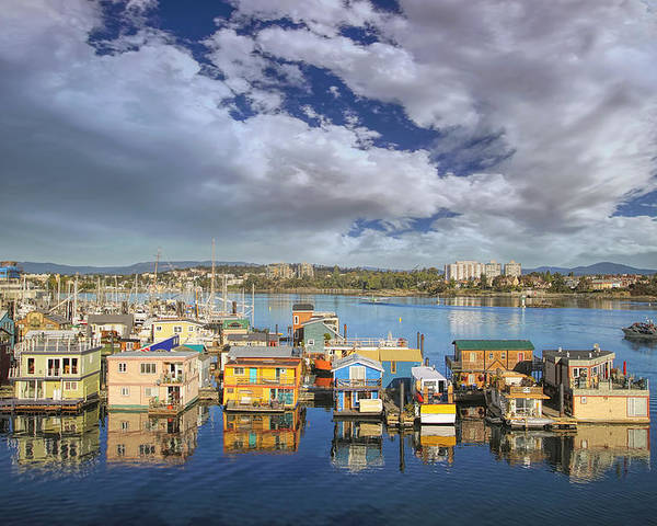 Victoria Poster featuring the photograph Victoria Bc Fishermans Wharf by Jit Lim