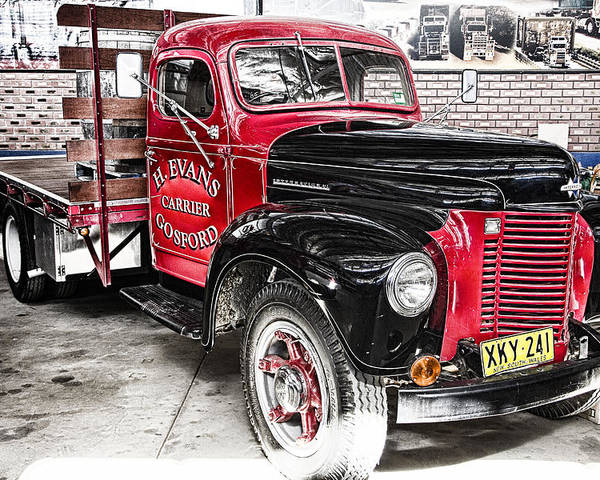 Vintage International Truck-road Transport Hall Of Fame Poster featuring the photograph Vintage International Truck by Douglas Barnard