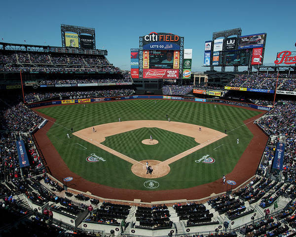 East Poster featuring the photograph Washington Nationals V. New York Mets by Rob Tringali
