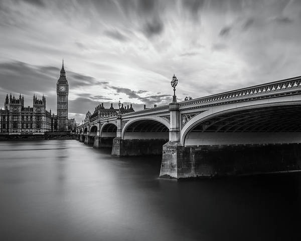London Poster featuring the photograph Westminster Serenity by Nader El Assy