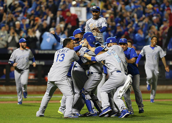 American League Baseball Poster featuring the photograph World Series - Kansas City Royals V New by Elsa