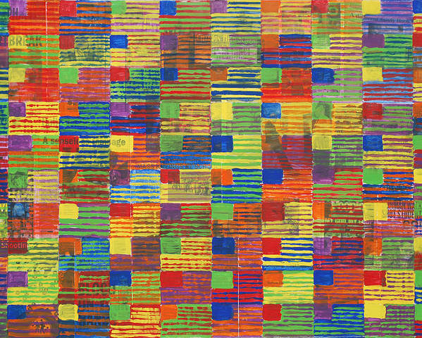 School Shootings Poster featuring the painting 100 Flags by Alex Wasnick