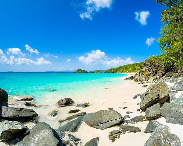 Caribbean Poster featuring the photograph Beautiful Caribbean Beach by Raul Rodriguez