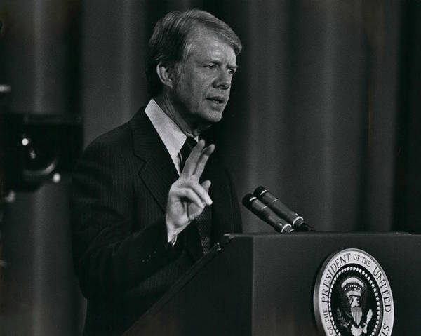 retro Images Archive Poster featuring the photograph President Jimmy Carter by Retro Images Archive