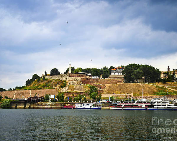 Kalemegdan Poster featuring the photograph Kalemegdan Fortress In Belgrade by Elena Elisseeva