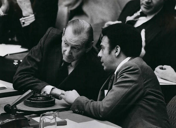 retro Images Archive Poster featuring the photograph Un Security Council Meeting by Retro Images Archive