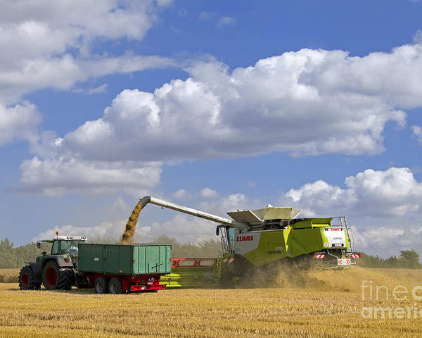 Combine Harvester Poster featuring the photograph 130201p025 by Arterra Picture Library
