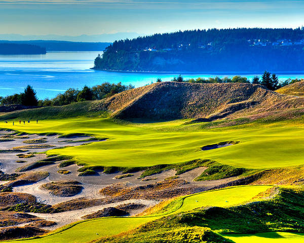 Landscapes Poster featuring the photograph #14 At Chambers Bay Golf Course - Location Of The 2015 U.s. Open Tournament by David Patterson