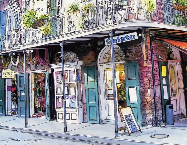 New Orleans Poster featuring the painting 149 by John Boles