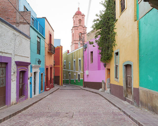 Blue Poster featuring the photograph Mexico, Guanajuato by Jaynes Gallery