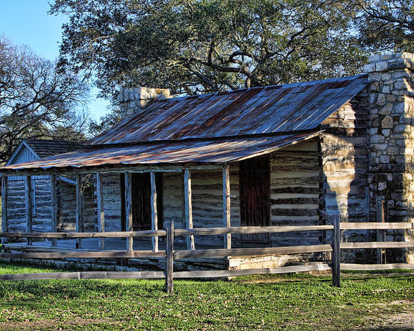 Artitecture Poster featuring the photograph 1860 Log Cabins by Linda Phelps