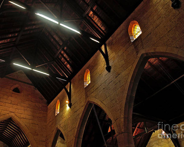 Photography Poster featuring the photograph 1865 - St. Jude's Church - Interior 2 by Kaye Menner
