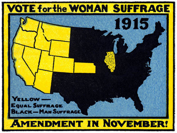 Vintage Poster featuring the painting 1915 Vote For Women's Suffrage by Historic Image