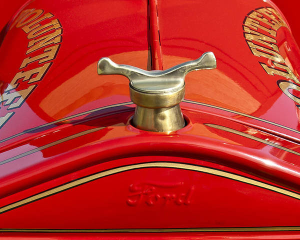 1919 Ford Volunteer Fire Truck Poster featuring the photograph 1919 Ford Volunteer Fire Truck by Jill Reger