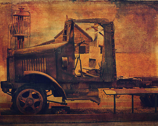 Corroded Poster featuring the photograph 1923 International Truck by Maria Angelica Maira