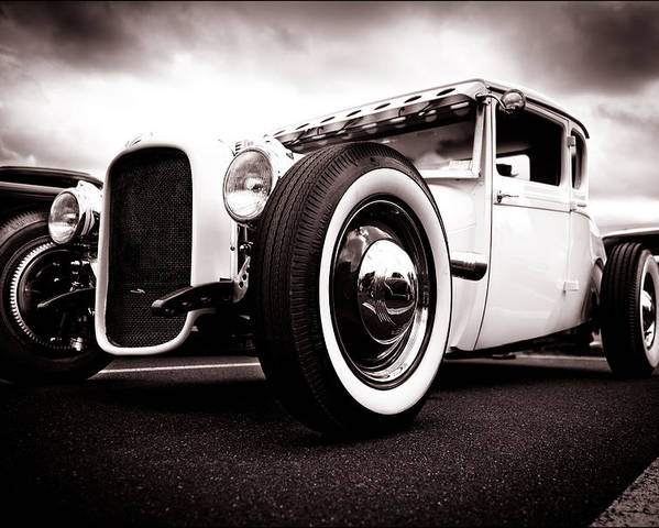 Ford Hotrod Poster featuring the photograph 1928 A Coupe by Phil 'motography' Clark