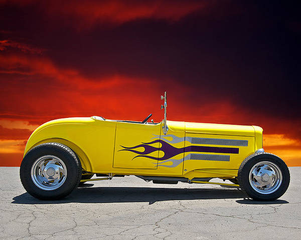 Coupe Poster featuring the photograph 1930 Model A Roadster IIi by Dave Koontz