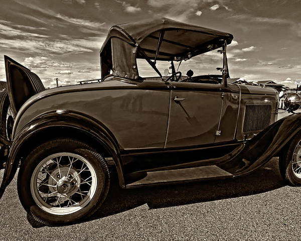 Ford Poster featuring the photograph 1931 Model T Ford Monochrome by Steve Harrington