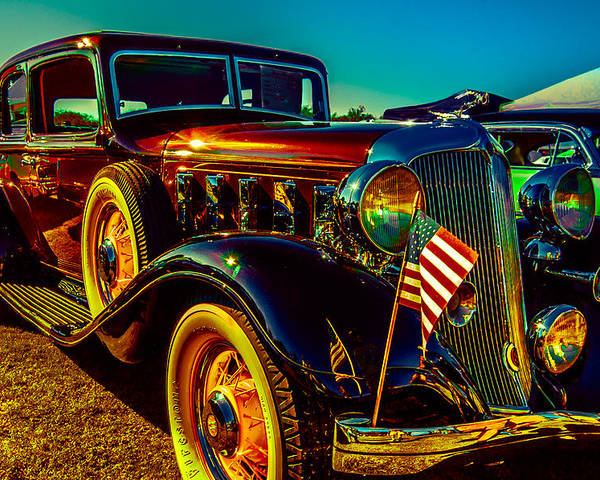 Classic Car Poster featuring the photograph 1933 Chrysler Sedan by Daniel Enwright