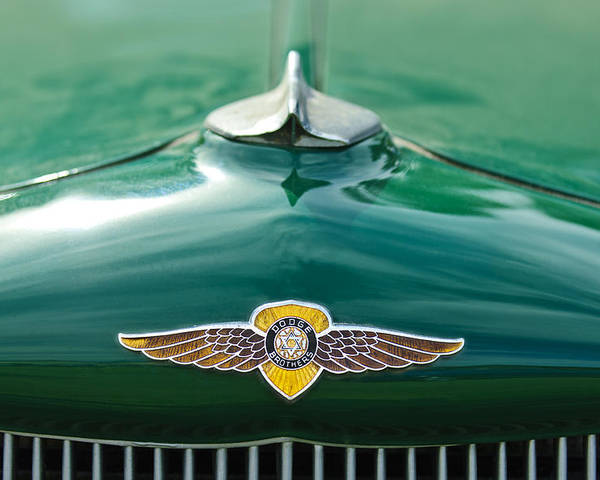 1934 Dodge Poster featuring the photograph 1934 Dodge Hood Ornament Emblem by Jill Reger