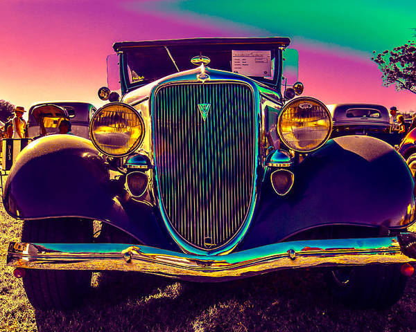 Classic Car Poster featuring the photograph 1934 Ford Front by Daniel Enwright