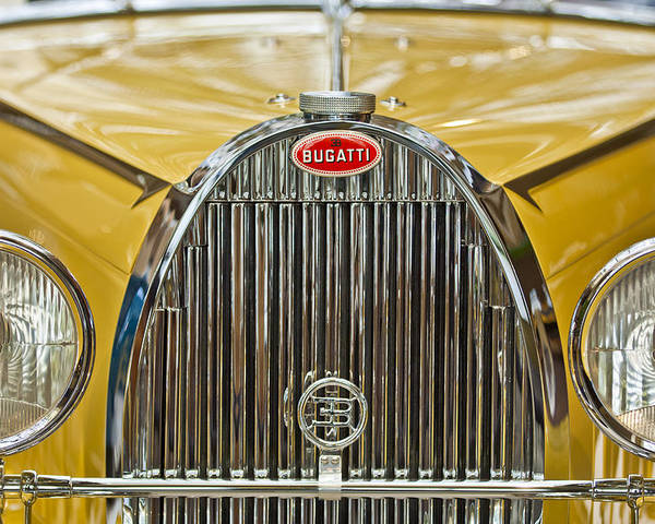1935 Bugatti Type 57 Roadster Poster featuring the photograph 1935 Bugatti Type 57 Roadster Grille by Jill Reger