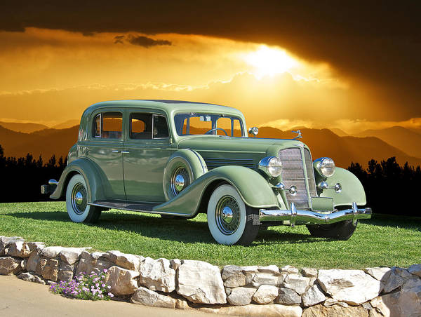 Art Poster featuring the photograph 1935 Buick 61 Sedan by Dave Koontz