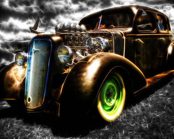 Custom Chevy Poster featuring the photograph 1936 Chevrolet Sedan by Phil 'motography' Clark
