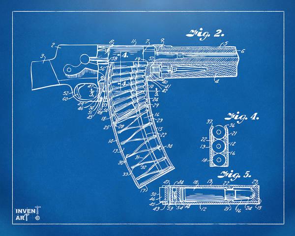 1937 Police Remington Model 8 Magazine Patent Minimal - Blueprint Poster