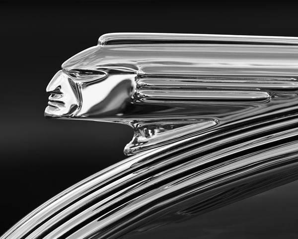 1939 Pontiac Silver Streak Poster featuring the photograph 1939 Pontiac Silver Streak Hood Ornament 3 by Jill Reger