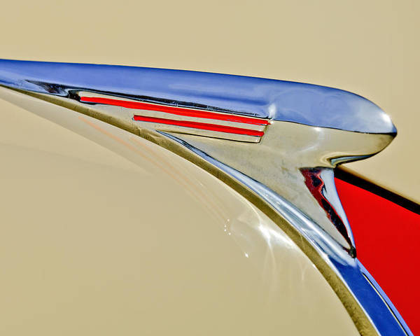1940 Chevrolet Poster featuring the photograph 1940 Chevrolet Pickup Hood Ornament 2 by Jill Reger