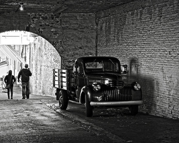 Chevrolet Poster featuring the photograph 1940 Chevrolet Pickup Truck In Alcatraz Prison by RicardMN Photography