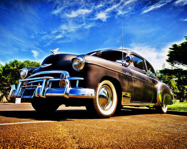 Chevrolet Deluxe Poster featuring the photograph 1949 Chevrolet Deluxe by motography aka Phil Clark