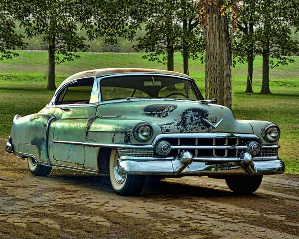 1951 Poster featuring the photograph 1951 Cadillac by Tim McCullough