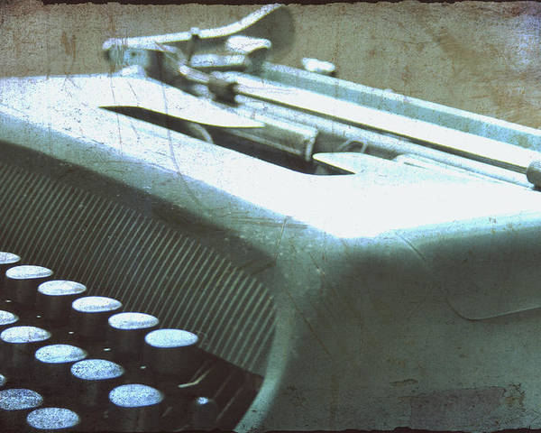 Olivetti Typewriter Poster featuring the photograph 1952 Olivetti Typewriter by Georgia Fowler