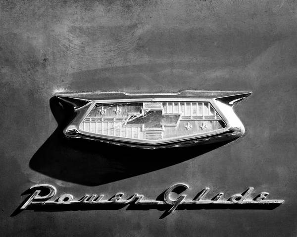 1954 Chevrolet Power Glide Emblem Poster featuring the photograph 1954 Chevrolet Power Glide Emblem by Jill Reger