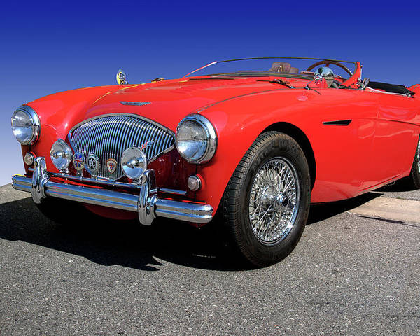 1956 Poster featuring the photograph 1956 Austin Healey by Paul Cannon