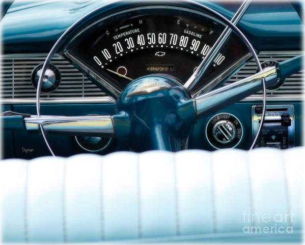 Car Poster featuring the photograph 1956 Chevy Bel Air by Steven Digman