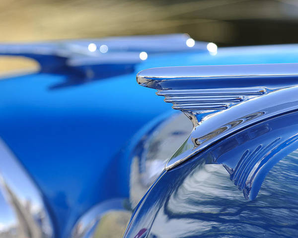 1957 Oldsmobile Poster featuring the photograph 1957 Oldsmobile Hood Ornament 3 by Jill Reger