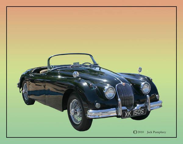 1959 Jaguar Xk 150 Ss Artwork By Jack Pumphrey Poster featuring the photograph 1959 Jaguar 150 S S Drop Head Coupe by Jack Pumphrey