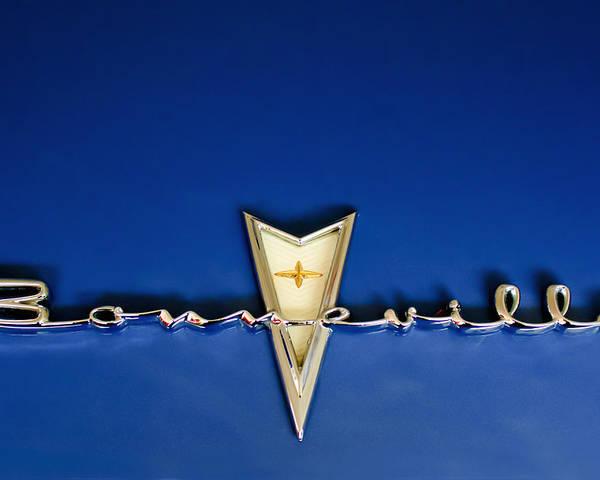 1959 Pontiac Bonneville Poster featuring the photograph 1959 Pontiac Bonneville Emblem by Jill Reger