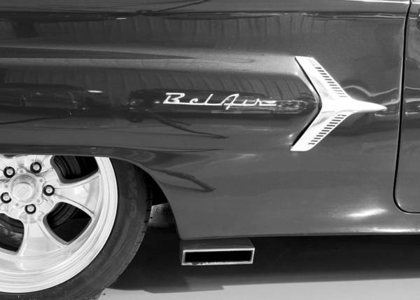 1960 Chevrolet Bel Air Poster featuring the photograph 1960 Chevrolet Bel Air 3bw 012315 by Rospotte Photography