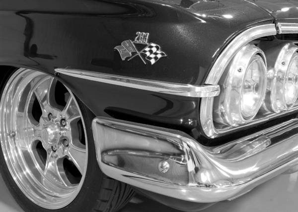1960 Chevrolet Bel Air Poster featuring the photograph 1960 Chevrolet Bel Air Bw 012315 by Rospotte Photography