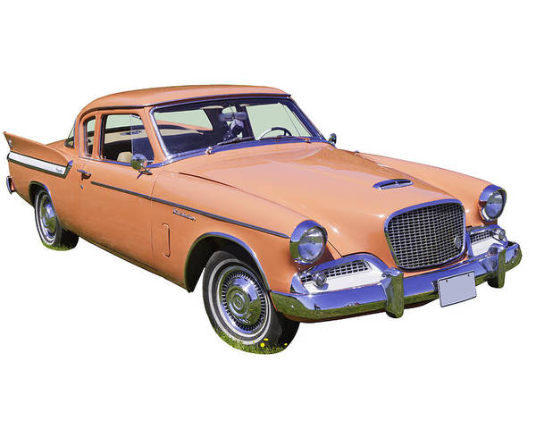 Vintage Poster featuring the photograph 1961 Studebaker Hawk Coupe by Keith Webber Jr