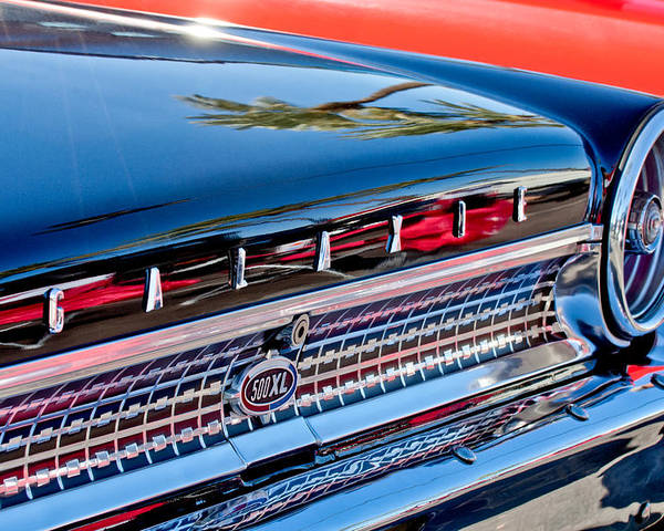 1963 Ford Galaxie 500xl Taillight Emblem Poster featuring the photograph 1963 Ford Galaxie 500xl Taillight Emblem by Jill Reger
