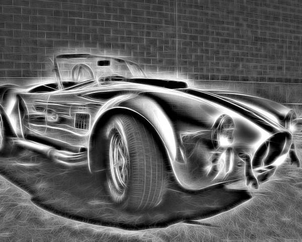 Car Poster featuring the photograph 1965 Shelby Cobra - 3 by Becca Buecher