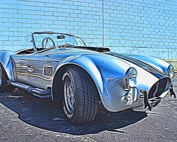 Car Poster featuring the photograph 1965 Shelby Cobra- 1 by Becca Buecher